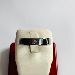 Other - Tungsten Carbide Ring CZ Wedding Band